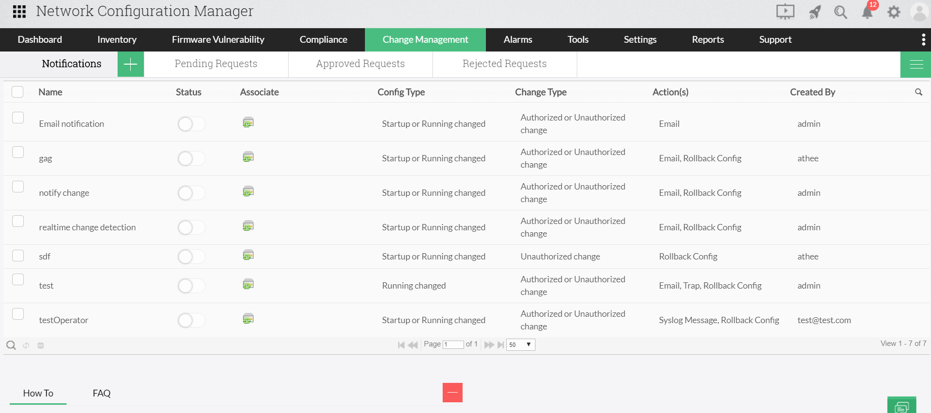 Manage Siemens configuration changes - ManageEngine Network Configuration Manager