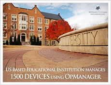 A leading educational institute uses OpManager to monitor 1500 devices