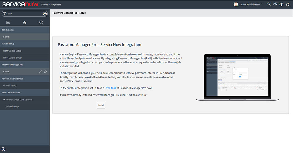 Integrating Password Manager Pro with ServiceNow